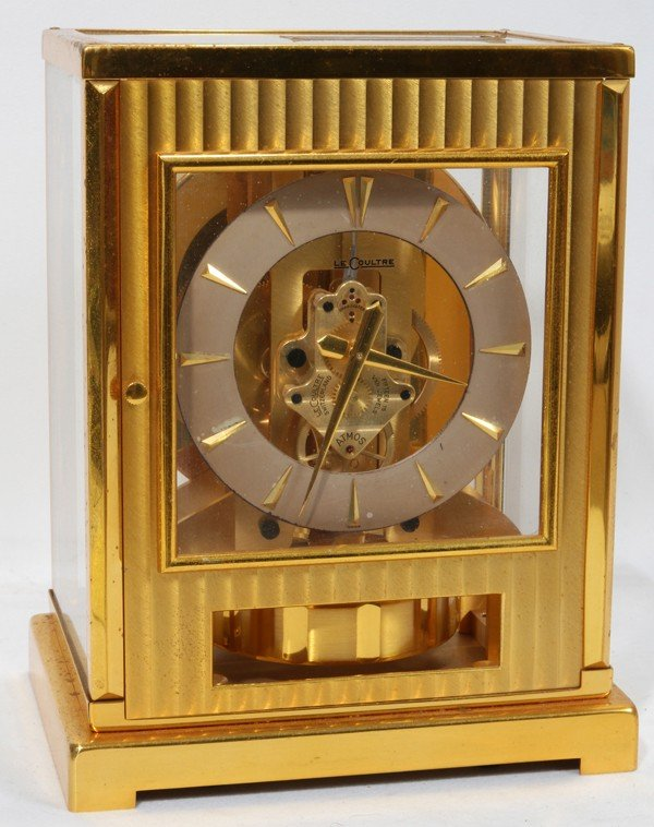 122160: LECOULTRE ATMOS GLASS AND BRASS CASE, CLOCK,