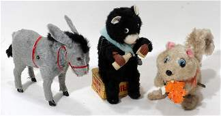 010490: WIND UP TOYS: DONKEY, BEAR AND SQUIRREL,