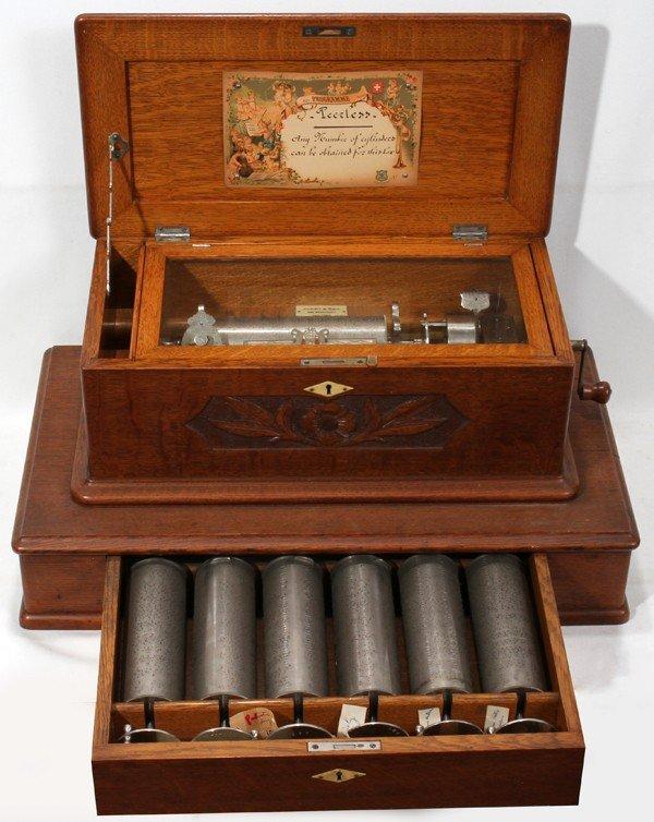 011006: MERMOD FRERES, SWISS 7-CYLINDER MUSIC BOX,