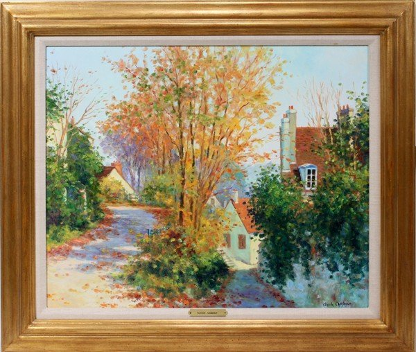 """012003: CLAUDE CAMBOUR OIL PAINTING, 21"""" X  26"""","""