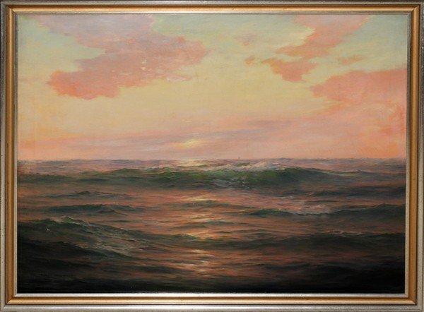"""012020: WARREN W. SHEPPARD, OIL ON CANVAS, 28"""" X 36"""","""