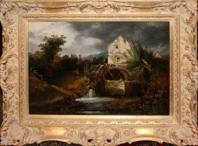 BRITISH SCHOOL OIL ON CANVAS, 18TH/19TH C,