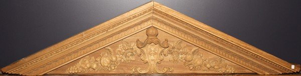 012107: ROCOCO STYLE CARVED WOOD ARCHITECTURAL ELEMENT,