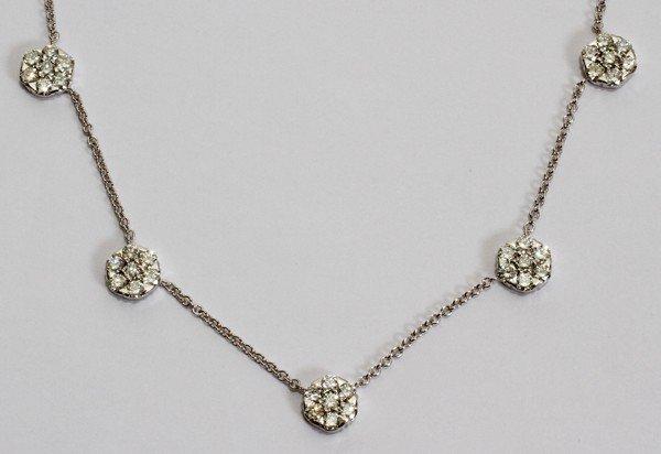 "012109: 5.11CT CLUSTER DIAMOND NECKLACE, L 19"""