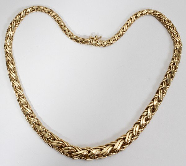 """012114: TIFFANY & CO. 14 KT GOLD NECKLACE, L 16 1/2"""""""