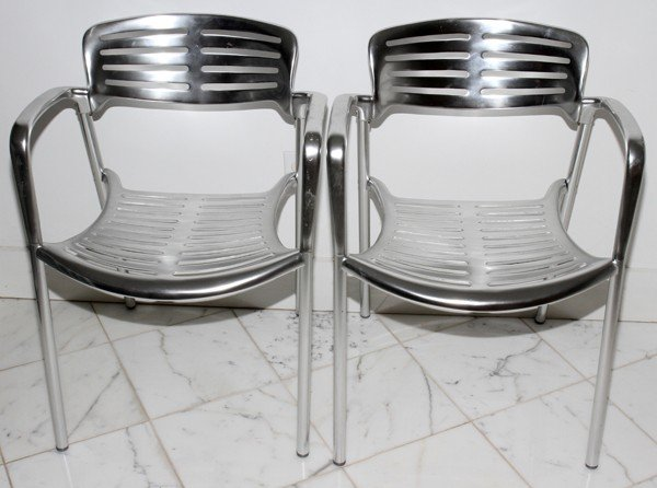 012200: JORGE PENSI FOR KNOLL 'TOLEDO' CHAIRS, TWO