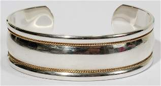 TIFFANY & CO. STERLING & 18KT GOLD BRACELET