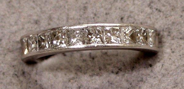 091005: PRINCESS CUT DIAMOND ETERNITY RING