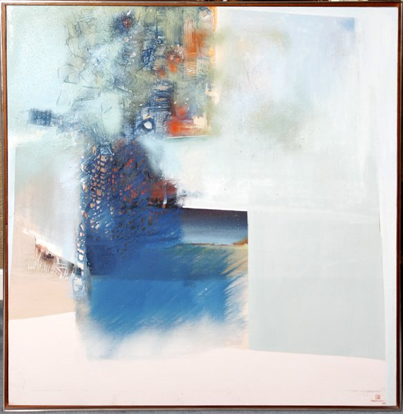 092015: TENG BENG-CHEW, OIL ON CANVAS, ABSTRACT