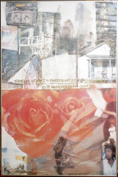 """092025: ROBERT RAUSCHENBERG, PHOTOSCREEN, """"DOMICILE"""""""
