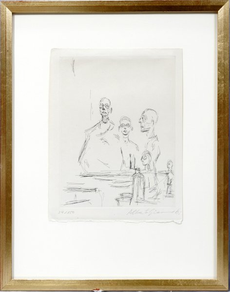 092042: A. GIACOMETTI, ETCHING, SCULPTURES DANS L'ATELI