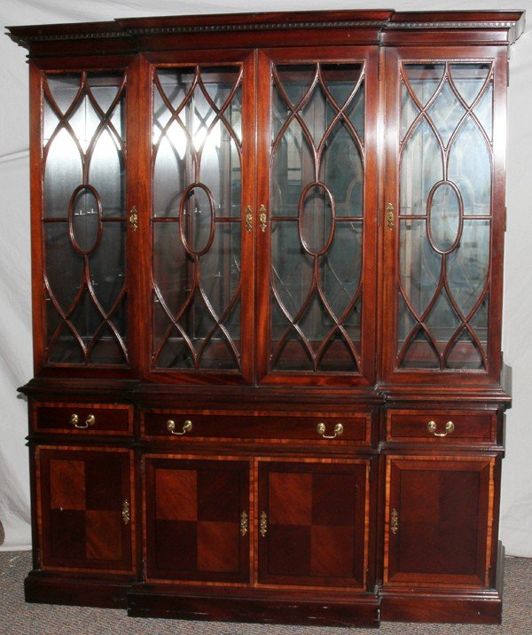 020010: PENNSYLVANIA HOUSE MAHOGANY CHINA CABINET/HUTCH