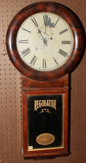 SETH THOMAS ROSEWOOD REGULATOR WALL CLOCK,