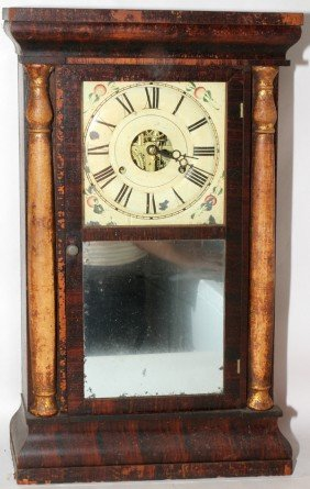 "SETH THOMAS ROSEWOOD CLOCK, 19TH C, H 25"","
