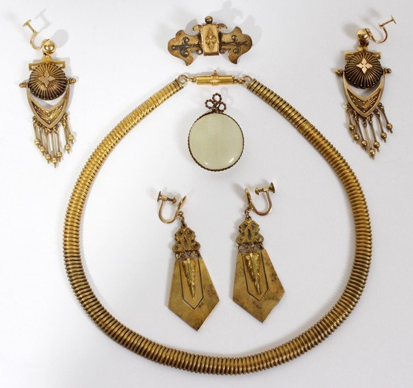 020179: VINTAGE COSTUME JEWELRY NECKLACE, EARRINGS &