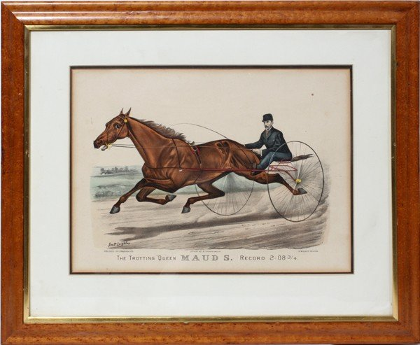 "020368: CURRIER & IVES, LITHOGRAPH, 1881, 12"" X 16"","