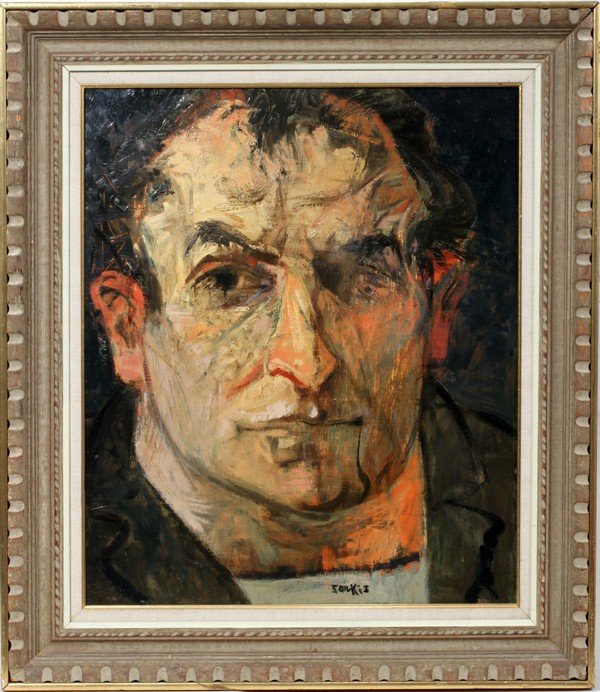 "022006: SARKIS SARKISIAN, OIL ON MASONITE, 25"" X 21"","