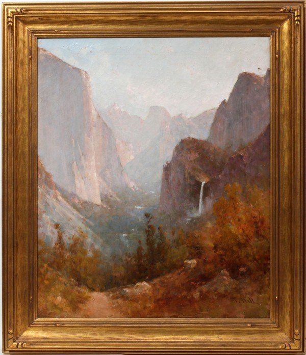 "022011: THOMAS HILL OIL ON CANVAS, 24"" X 20"", YOSEMITE,"