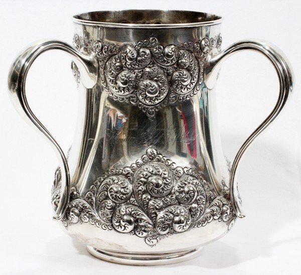 021002: GORHAM STERL. CUP & NAMES OF DETROIT'S FAMILIE
