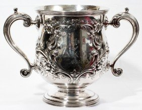 021003: AMERICAN STERLING SILVER TROPHY CUP, C. 1909