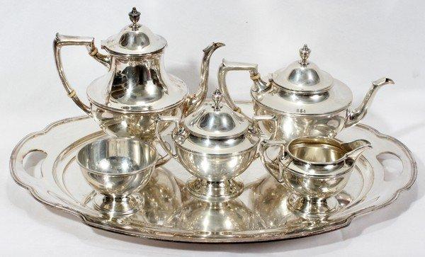 021006: CONCORD STERL. TEA & COFFEE SET 5 PCS &