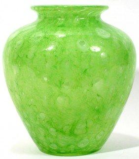 """021014: STEUBEN CLUTHRA GLASS VASE, C. 1920, H 8"""""""