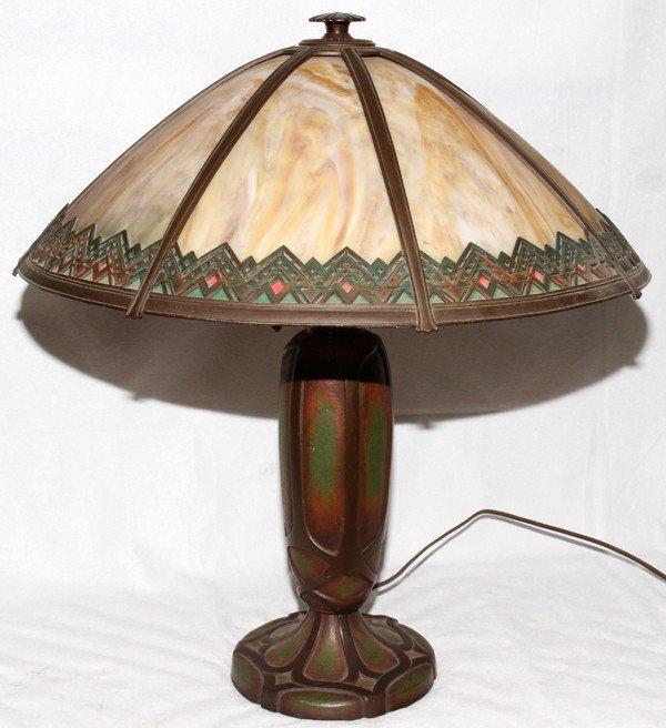 021024: BRADLEY & HUBBARD TABLE LAMP, EARLY 20TH C.