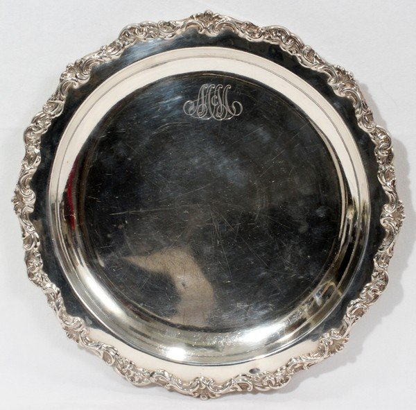 021149: THEODORE B. STARR, STERLING SILVER TRAY,
