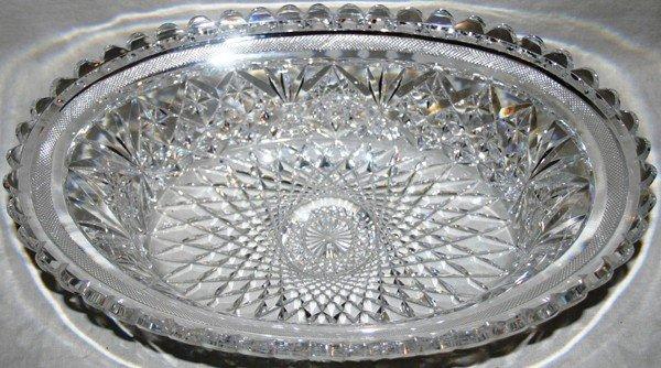 021153: HAWKES BRILLIANT CUT GLASS BOWL, EARLY 20TH C.