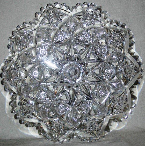 021154: HAWKES BRILLIANT CUT GLASS DISH, C. 1900,