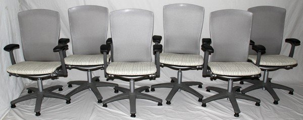 021168: KNOLL 'LIFE' CHAIRS, MID 20TH C., SET OF SIX