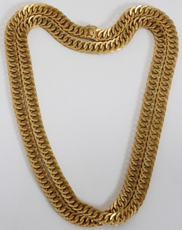 031006: ITALIAN 18KT YELLOW GOLD NECKLACE, L 42""