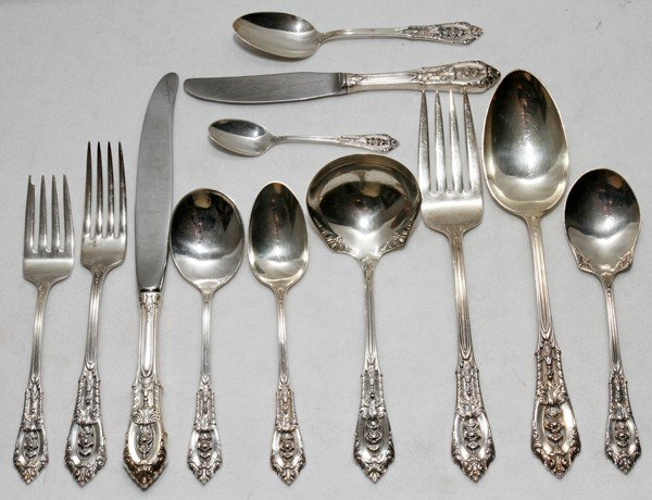 031023: WALLACE 'ROSE POINT' STERLING FLATWARE,