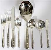 031062 TOWLE RAMBLER ROSE STERLING FLATWARE