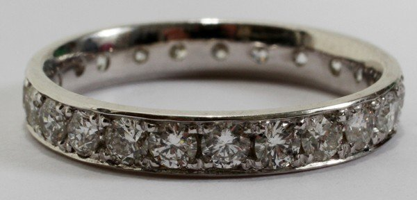030016: 14KT WHITE GOLD & 1.10CT DIAMOND ETERNITY BAND