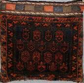 030136: AFGHAN HAND MADE WOOL PERSIAN SADDLE BAG/PILLOW