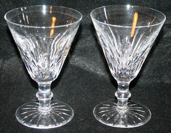 030203: WATERFORD CRYSTAL WINE GLASSES, 'TRAMORE'