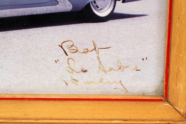 """030278: SIGNED PHOTOGRAPH OF HARLEY EARL, 8"""" X 10"""",  - 2"""