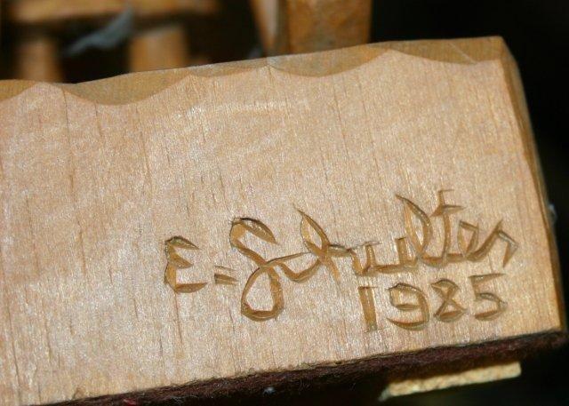 030508: ELMER SCHULTES CARVED WOOD SCULPTURES, 1985, - 2