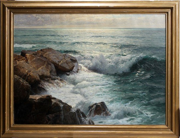 032021: KARL THEODOR BOEHME (1866-1939), OIL ON CANVAS,