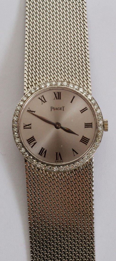 032076: PIAGET LADY'S 18KT. WHITE GOLD & DIAMOND WATCH