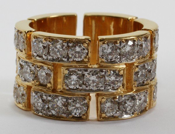 "032078: 4.50 CT DIAMOND ETERNITY RING, 6 1/2"""