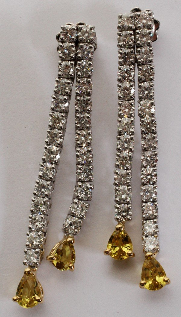 032082: 4CT DIAMOND & 2CT YELLOW SAPPHIRES