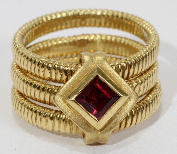 032084: SEIDENGANG 18 KT YELLOW GOLD & TOURMALINE RING