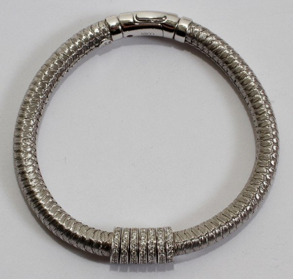 032085: ROBERTO COIN 18KT GOLD & 1CT DIAMOND BRACELET