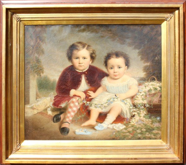032090: LEWIS THOMAS IVES (1833-1894), OIL ON CANVAS