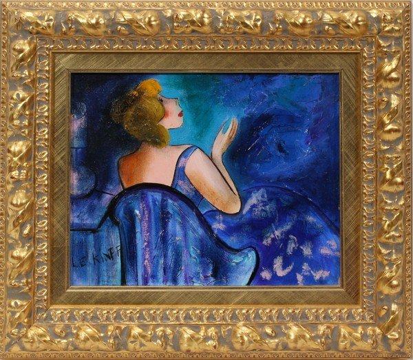 032094: LINDA LE KINFF, OIL ON CANVAS, 1995,