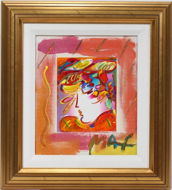 032096: PETER MAX (1937), MIXED MEDIA ON CANVAS