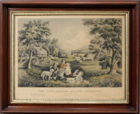 "CURRIER & IVES, LITHOGRAPH, 1868, 15"" X 23"","
