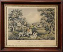 """032105: CURRIER & IVES, LITHOGRAPH, 1868, 15"""" X 23"""","""